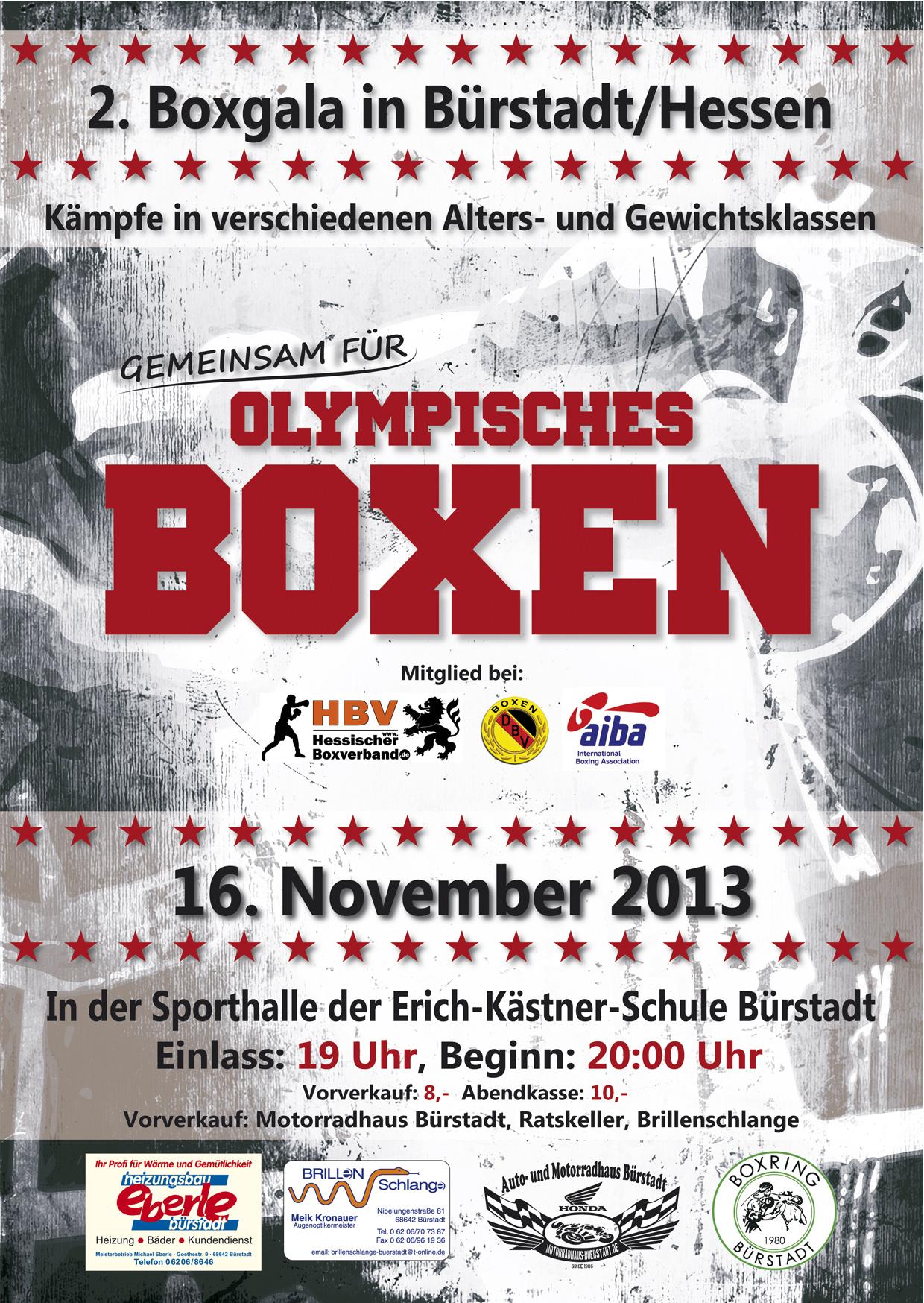 2. Boxgala in Bürstadt am 16.11.2013
