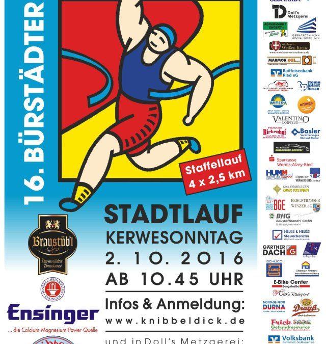 16. Bürstädter Stadtlauf am 02.10.2016